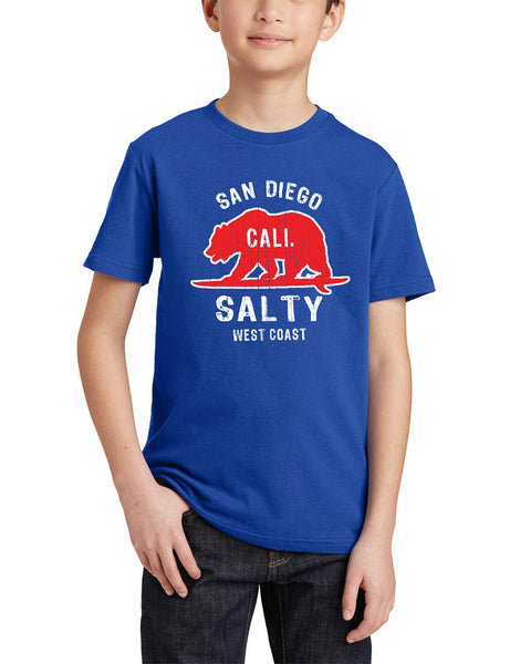Boys Kids Crewneck T-shirt : Salty Bear