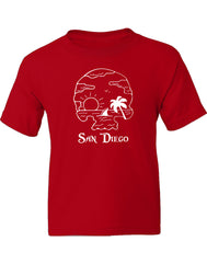 Beach School Boy Youth T-shirt