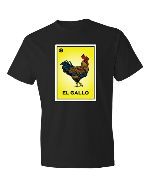 Loteria Shirts El Gallo tshirt rooster tee printed on a yellow card from the classic Mexican Loteria bingo game. Mexican shirts, Black Loteria Shirts sold by SDTradiang Co.