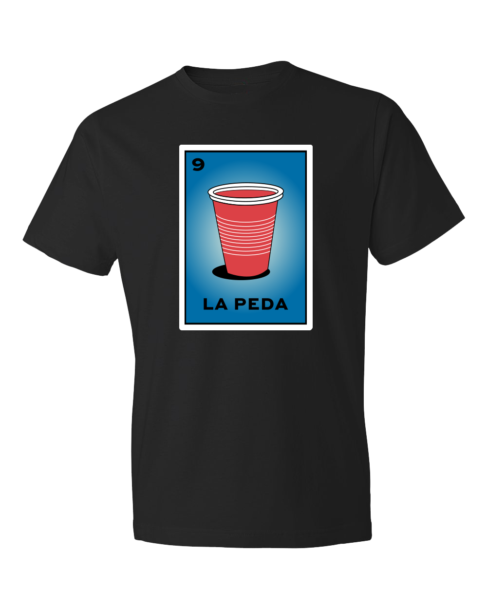 Loteria Shirts La Peda tshirt adult women tees mexican shirts graphic design inspired by La loteria Mexican Game. Designed and Printed Locally by San Diego, California, USA artist. Perfect outfit idea for your drunk friend Birthday gift. A Cultural, Artistic, and Trendy Popular Tee.