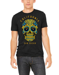 CA Bolt Skull Triblend  T-shirt
