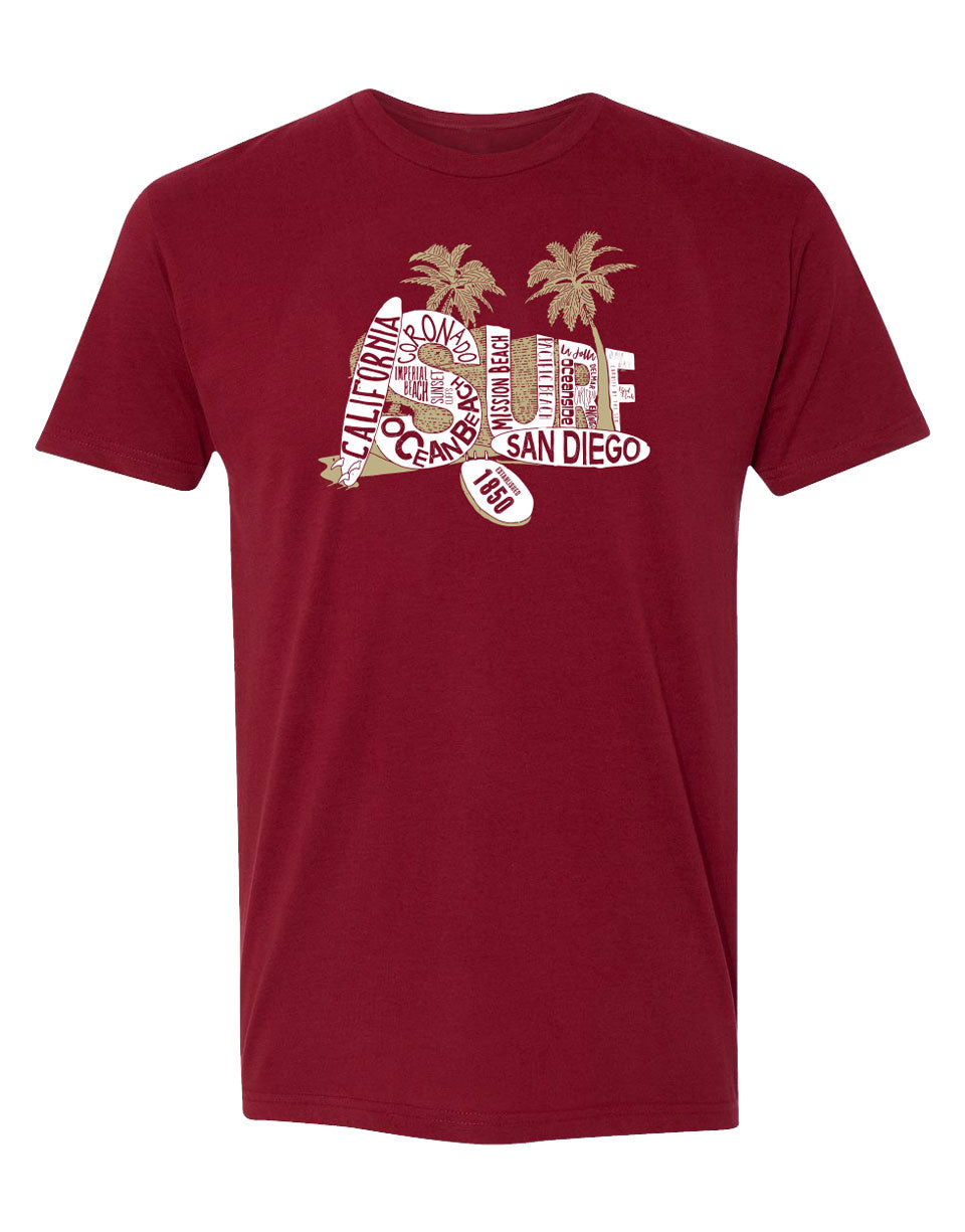 Men's Adult T-Shirt : So Cal Beaches