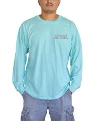 SD College Palm L/S - SEAFOAM
