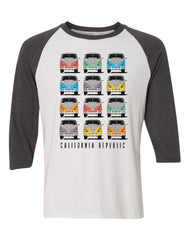Adult Men's Raglan Shirt : Kombi Republic