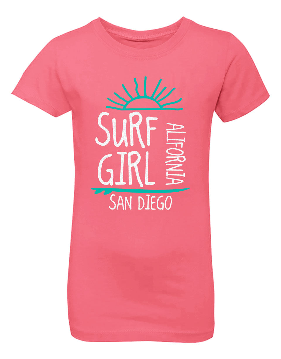 Sunrise Surf Girl Princess Tee