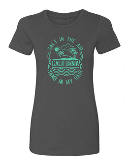 California Salt in the Air Women Crewneck T-shirt