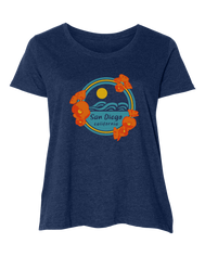 Poppy Sunset Women's Curvy's Tee