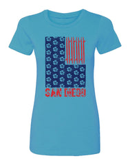 SD Surf N Stripes Womens Tee