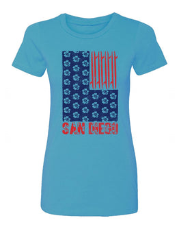 SD Surf N Stripes Women Tee