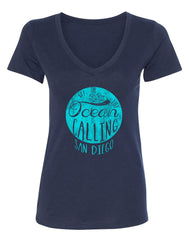 Ocean is Calling Women's V-Neck Triblend Tee