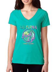 Women's Adult V-Neck T-Shirt : Summer Paradise