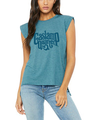 Gaslamp Quarter Tonal Womens Muscle Tank