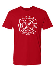 Men's Adult T-Shirt : SD FD Shield