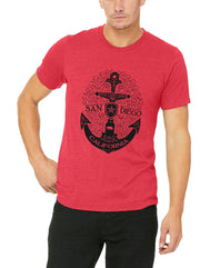 Men's Adult T-Shirt : SD Scroll Anchor