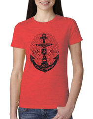 Women's Adult T-Shirt : SD Scroll Anchor