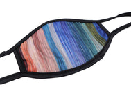Face Mask wide coverage painted stripes colors are some red mostly blue stripes face mask adults for women or men. Helps with protection, mask, covid, covid-19 protection, corona virus protection, corona virus, self protection, reusable face mask, re-usable mask, cool max, made in the usa.