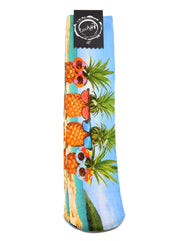 Lucky 7, Lucky 7 socks, fun socks, funny socks, teen socks, colorful socks, long socks, stylish socks, pineapple socks, cool pineapple socks, pineapples, vacation socks, sunglasses socks, crazy socks