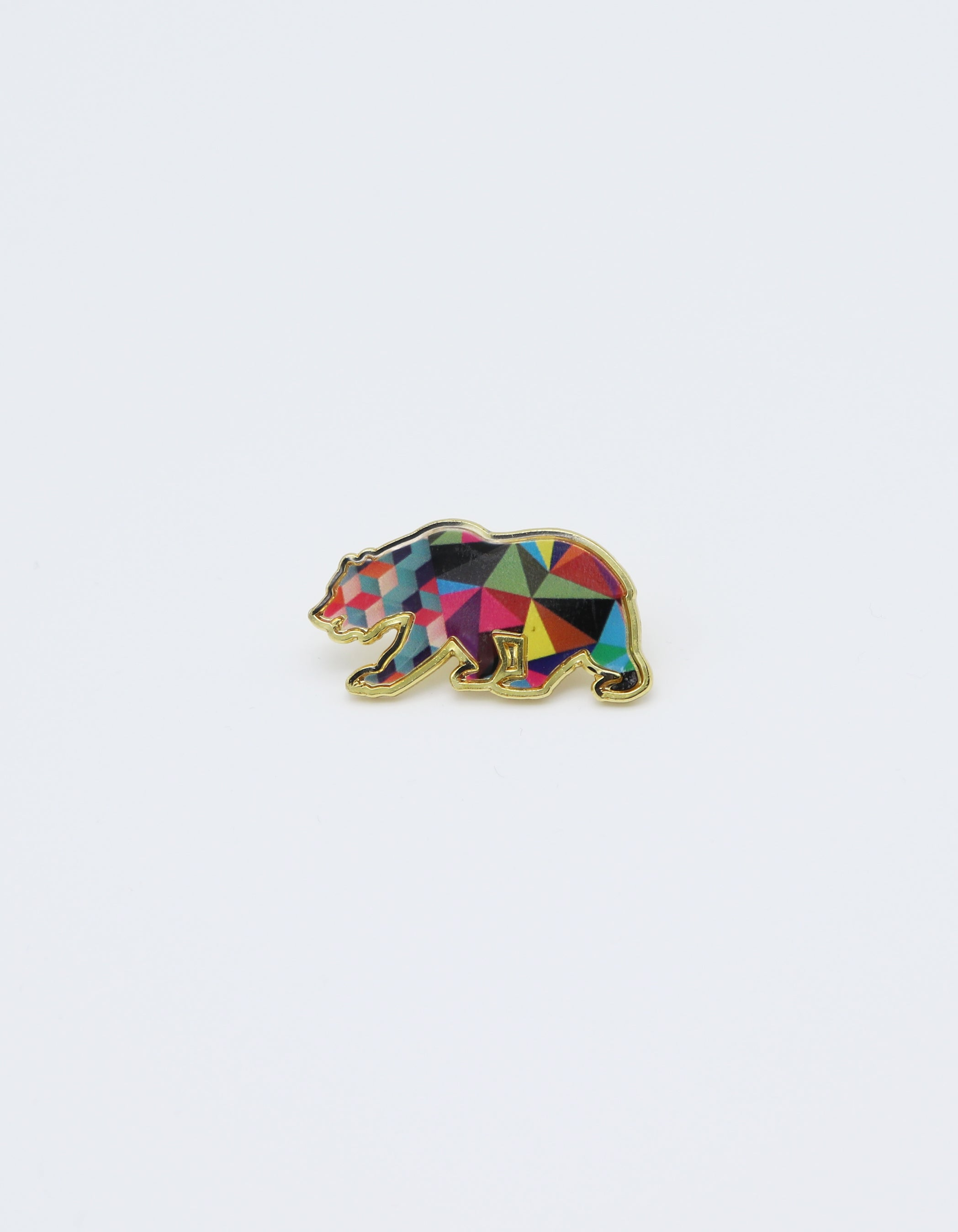 Geometric Bear Pin