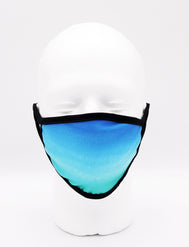 Face Mask Seascape, Beautiful blue sky face mask adults for women or men. Helps with protection, mask, covid, covid-19 protection, corona virus protection, corona virus, self protection, reusable face mask, re-usable mask, cool max, made in the usa.