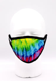 Face Mask tie dye rainbow, Beautiful yellow green blue purple pink face mask adults for women or men. Helps with protection, mask, covid, covid-19 protection, corona virus protection, corona virus, self protection, reusable face mask, re-usable mask, cool max, made in the USA