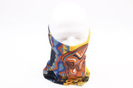 Gaiter headscarf sleeve head wear, neck, mouth, face mask protection. Native tribal desig Sold by SDTrading Co.