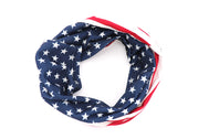 United States of America gaiter Red White stripes and white stars over Blue colors are very true to USA FLAG Adult Gaiter face mask with American Flag printed all around Lightweight and breathable usa flag gaiter scarf bandana adults or kids. Nice fabric face mask.