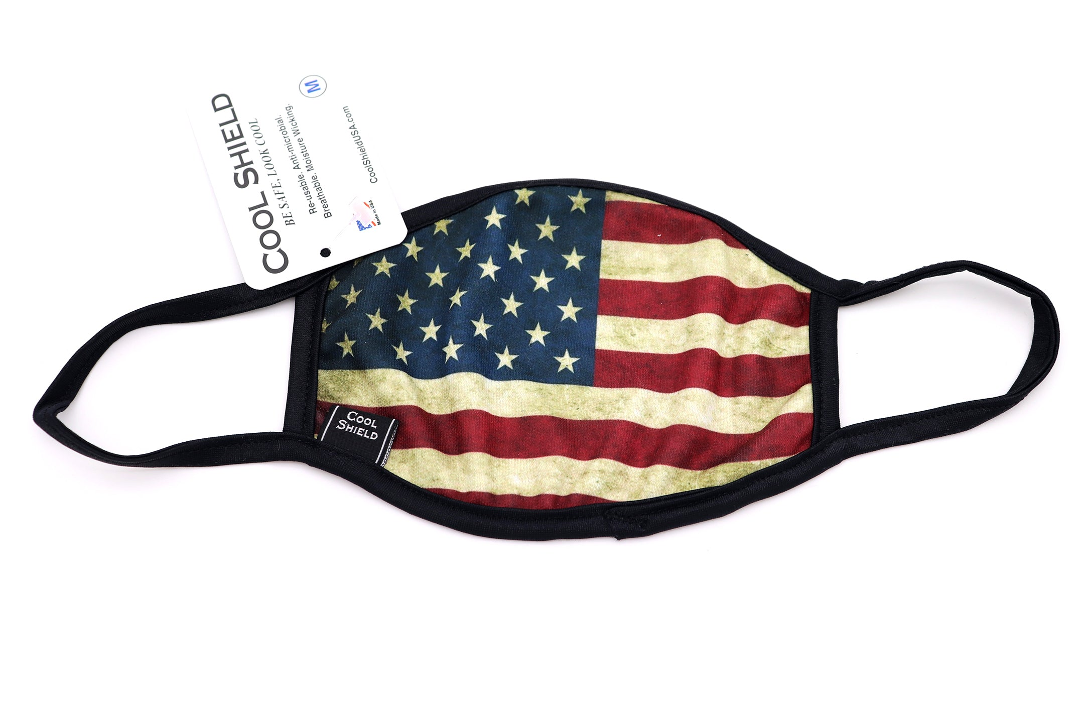 USA Flag Face Mask Old Glory vintage looking faded us flag American, face mask adults for women or men. Helps with protection, washable mask protection, corona virus protection, corona virus, self protection, reusable face mask, re-usable mask, cool max, made in the usa.