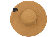 Zoomed in closed look at floppy beach hat. Well constructed for durability. Summer hat.
