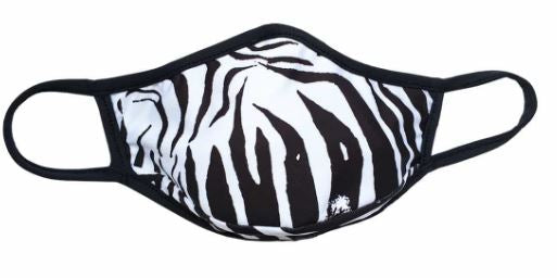 Zebra adult face mask. White and Black Stripes. Beautiful trendy and popular one size fits most comfortable and breathable mask. Sold by SDTrading Co.