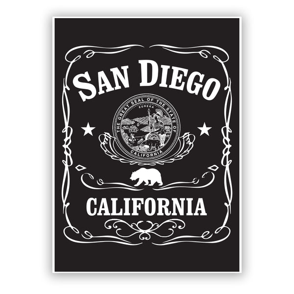 San Diego California Shield Sticker