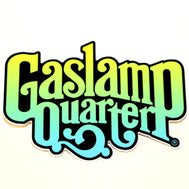 Gaslamp Quarter Merchandise, Gaslamp Quarter, Gaslamp Quarter Sticker, Sticker, Stickers, San Diego Sticker, California Sticker