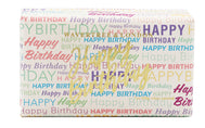 Happy Birthday Text Moisturising Soap