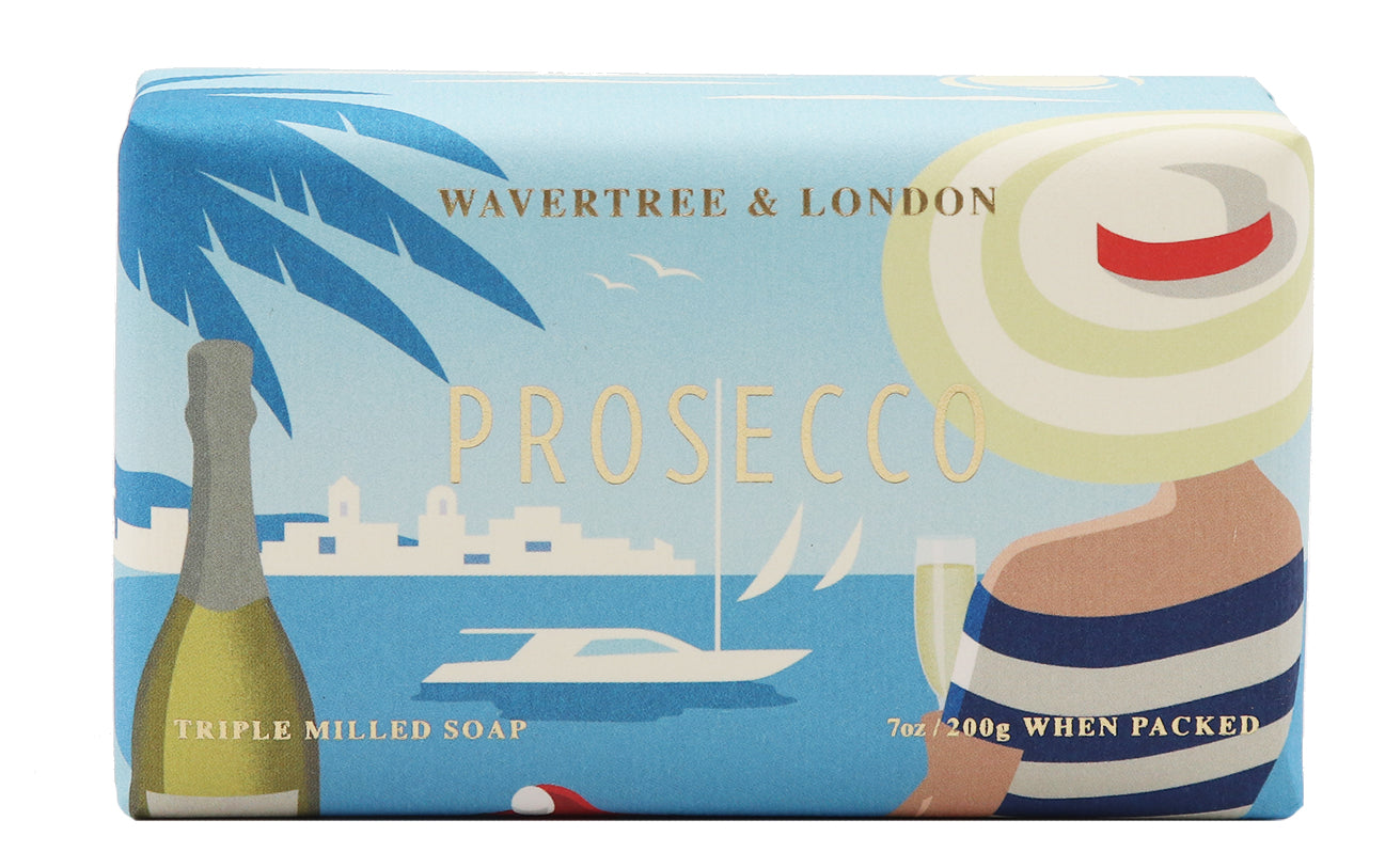 Prosecco Soap 100% Certified Sustainable pure plant oils and organic shea butter with no added color or artificial preservatives