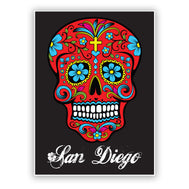 San Diego Colored Skull Sticker
