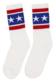 USA made socks for men or women. Stars and Stripes pattern are perfect for memorial day, fourth of July, or any day to show your pride for America. Sold by SDTrading Co.