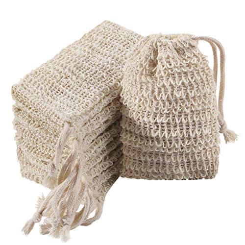 Natural Soap Saver Bag With Drawstring