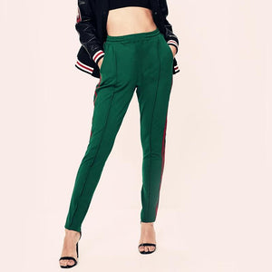 Green Red Striped Pants