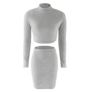 Fleece Two Piece Dress