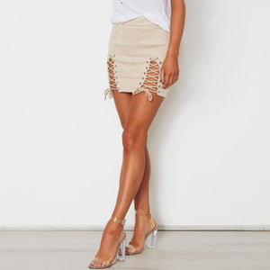 Double Split Lace Skirt