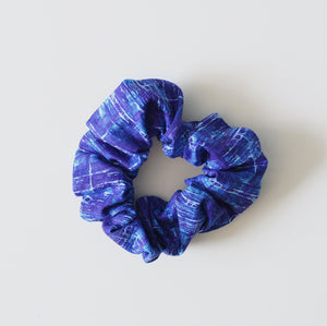 Blue Abstract Scrunchie