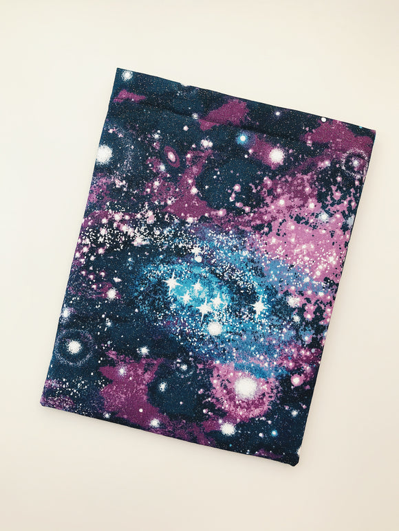 Purple Glitter Galaxy Book Sleeve