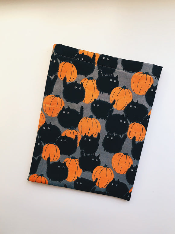Black Cat Pumpkin Book Sleeve