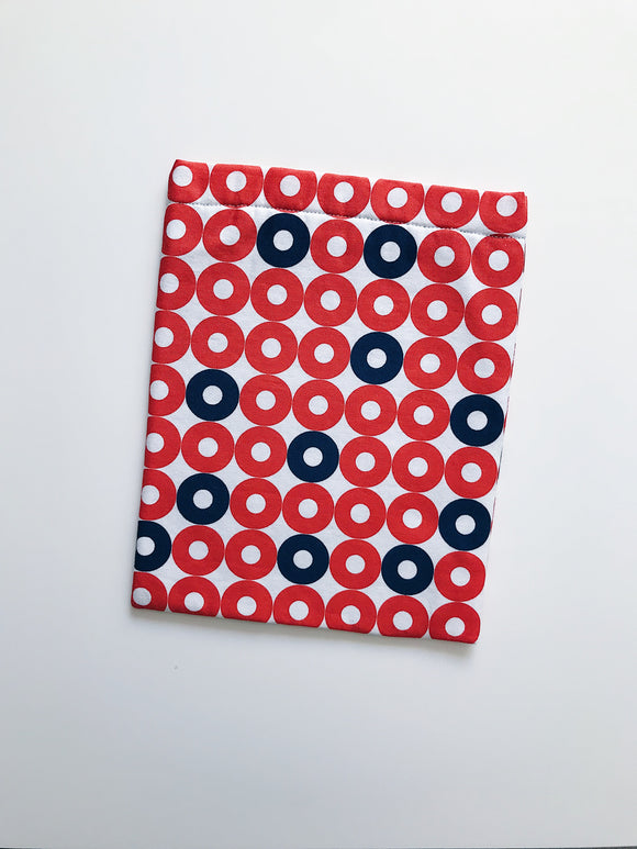 Orange and Blue Circle Book Sleeve