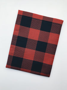 Red Plaid Book Sleeve