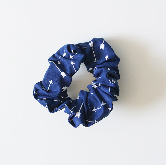 Blue Arrow Scrunchie