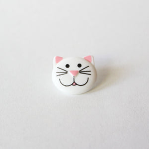 White Cat Buttons