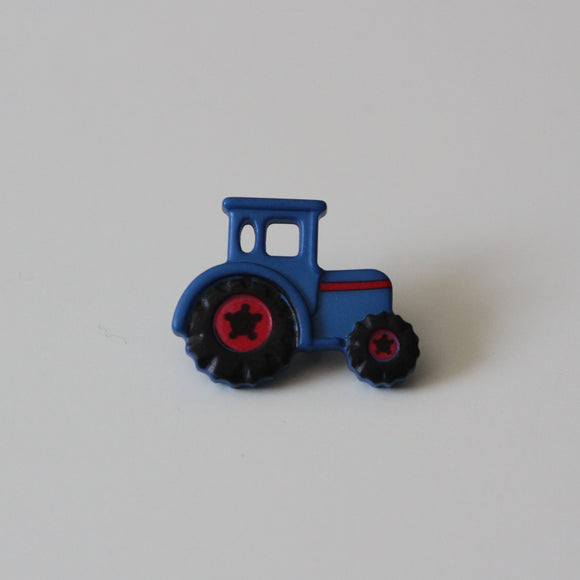 Blue Tractor Buttons