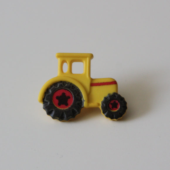 Yellow Tractor Buttons