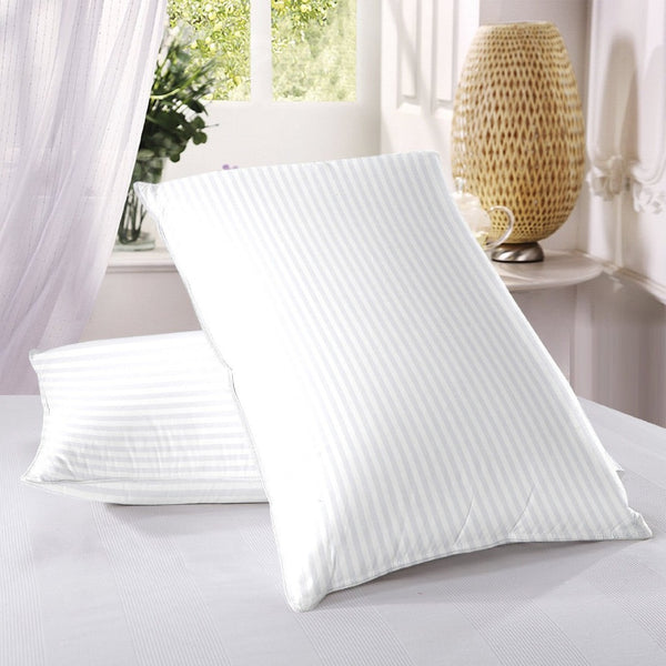 TC 300 Satin Stripe FILLED PILLOWS-PACK OF 2