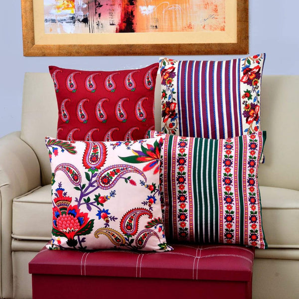 Digital Printed Satin Cushions Assorted 4PCs-Etro